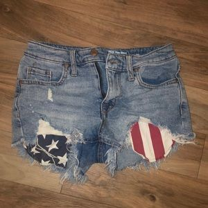 High waisted 4th of July jean shorts! Size medium